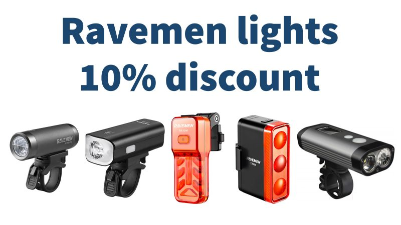 10% discount on Ravemen lights, be safe, be seen