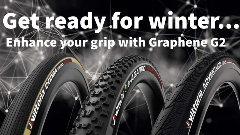 New in, handmade tyres with high tech grippy Graphene